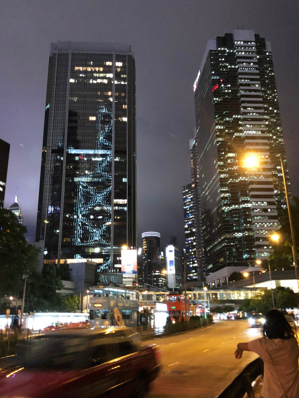 Hong Kong - Central at night