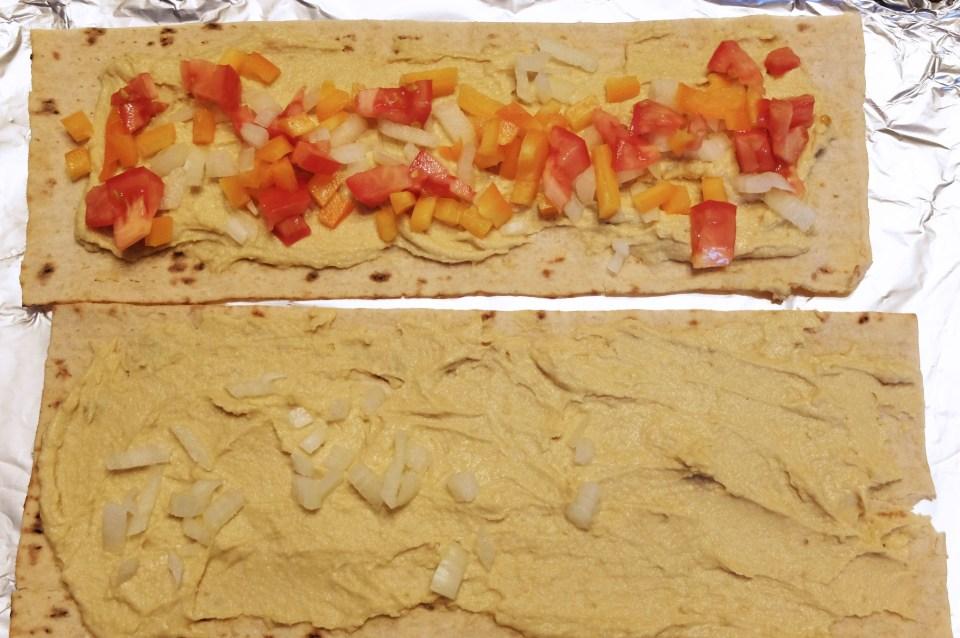 Hummus Flatbread Sandwich
