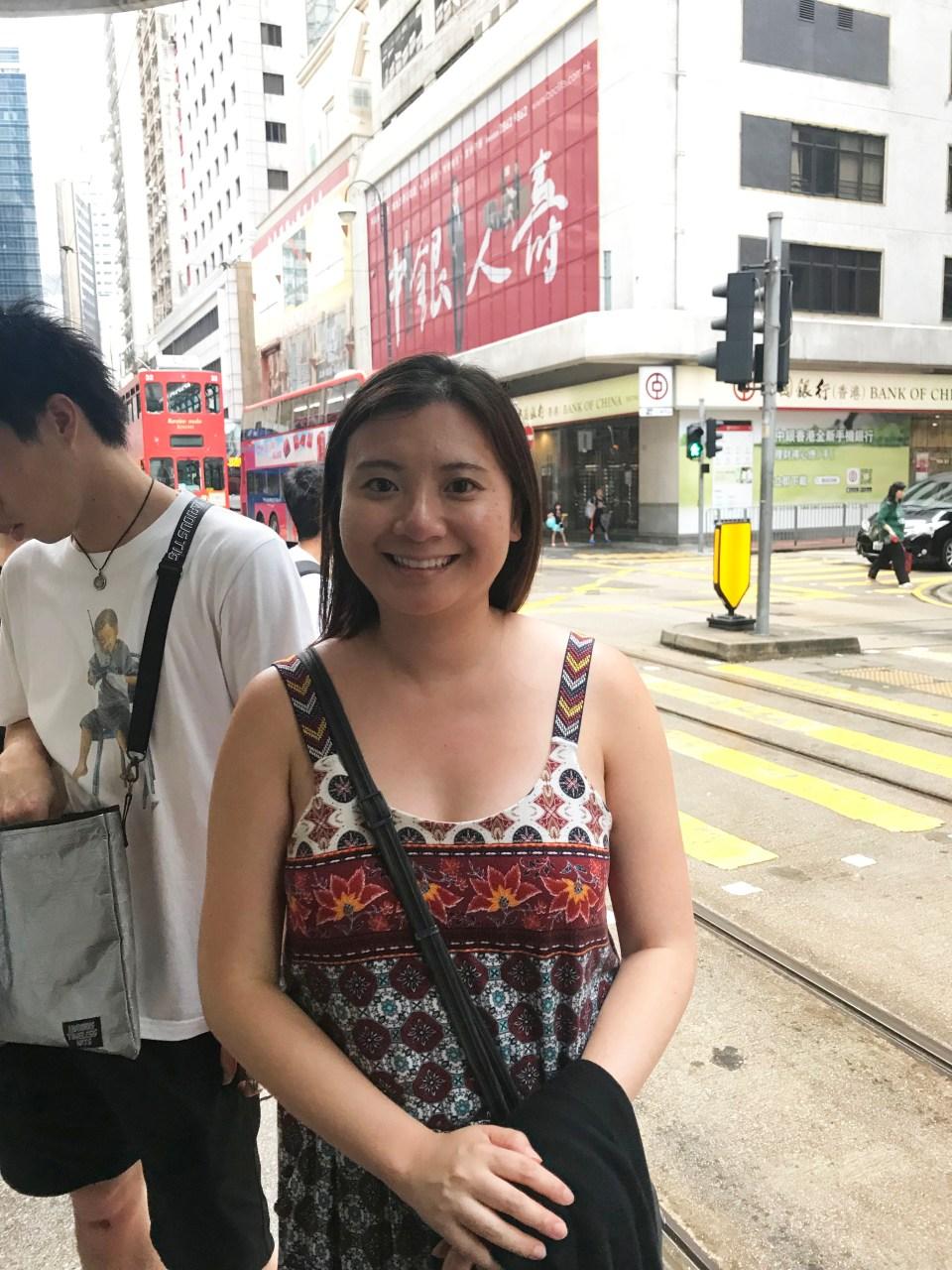 Waiting for HK Tram