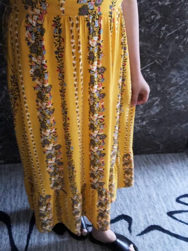 Yellow Floral Midi Dress 11