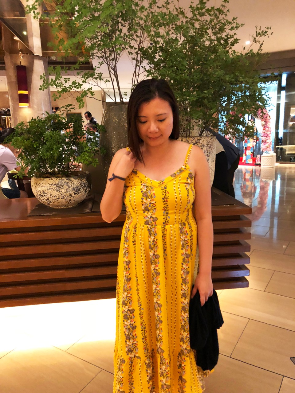 Yellow Floral Midi Dress 3