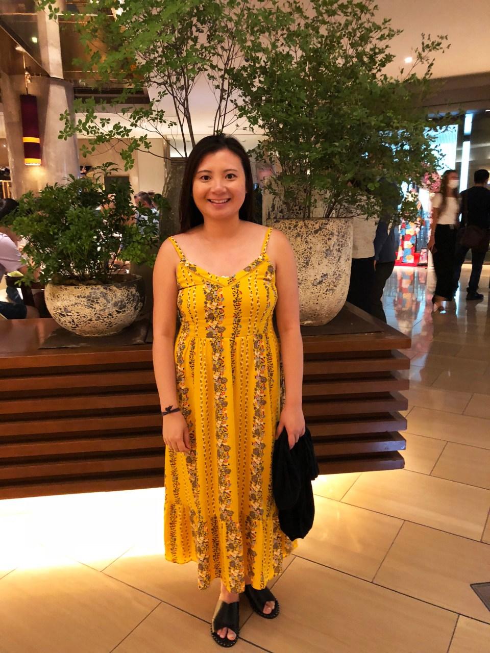 Yellow Floral Midi Dress 5