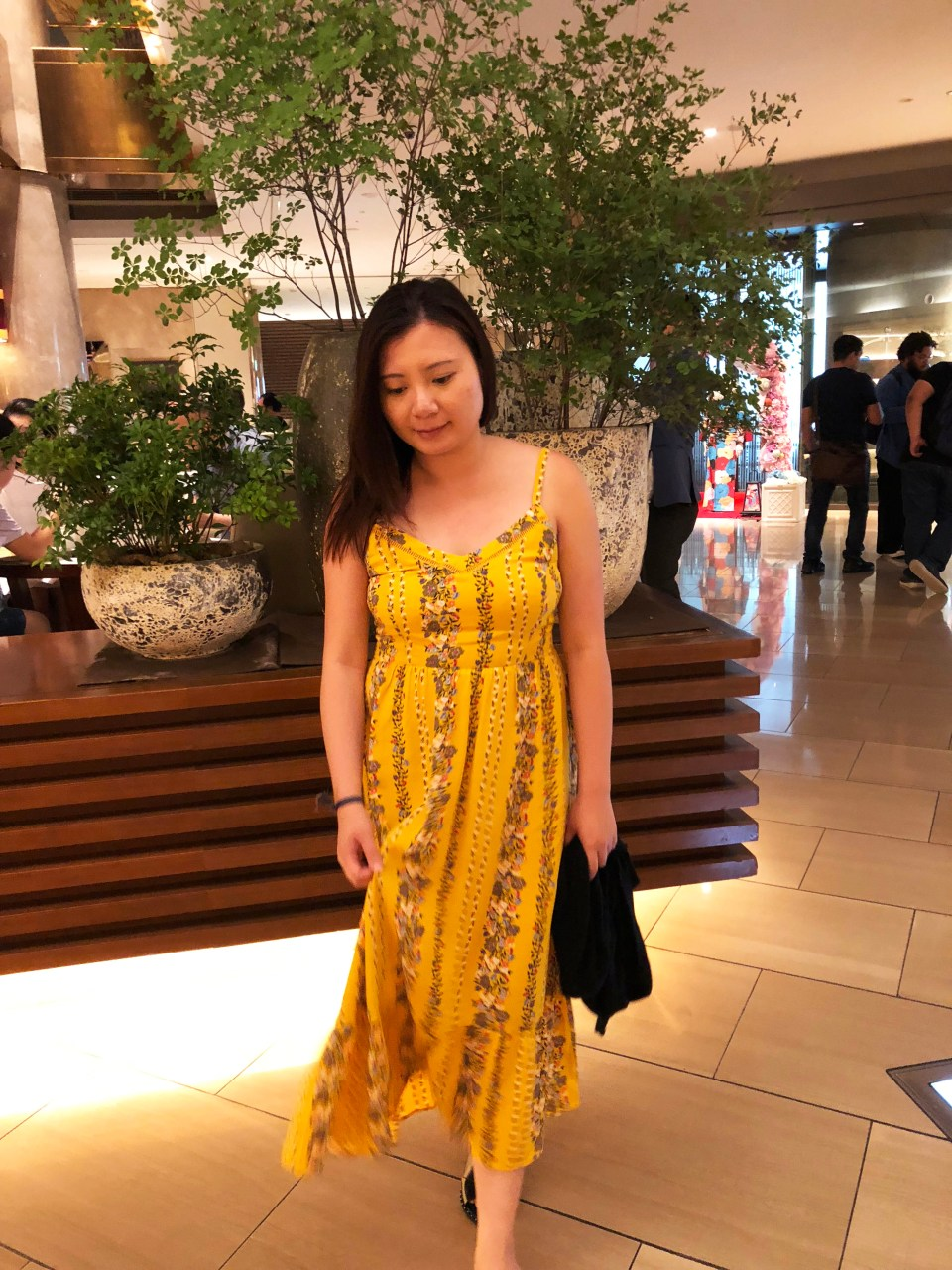 Yellow Floral Midi Dress 6