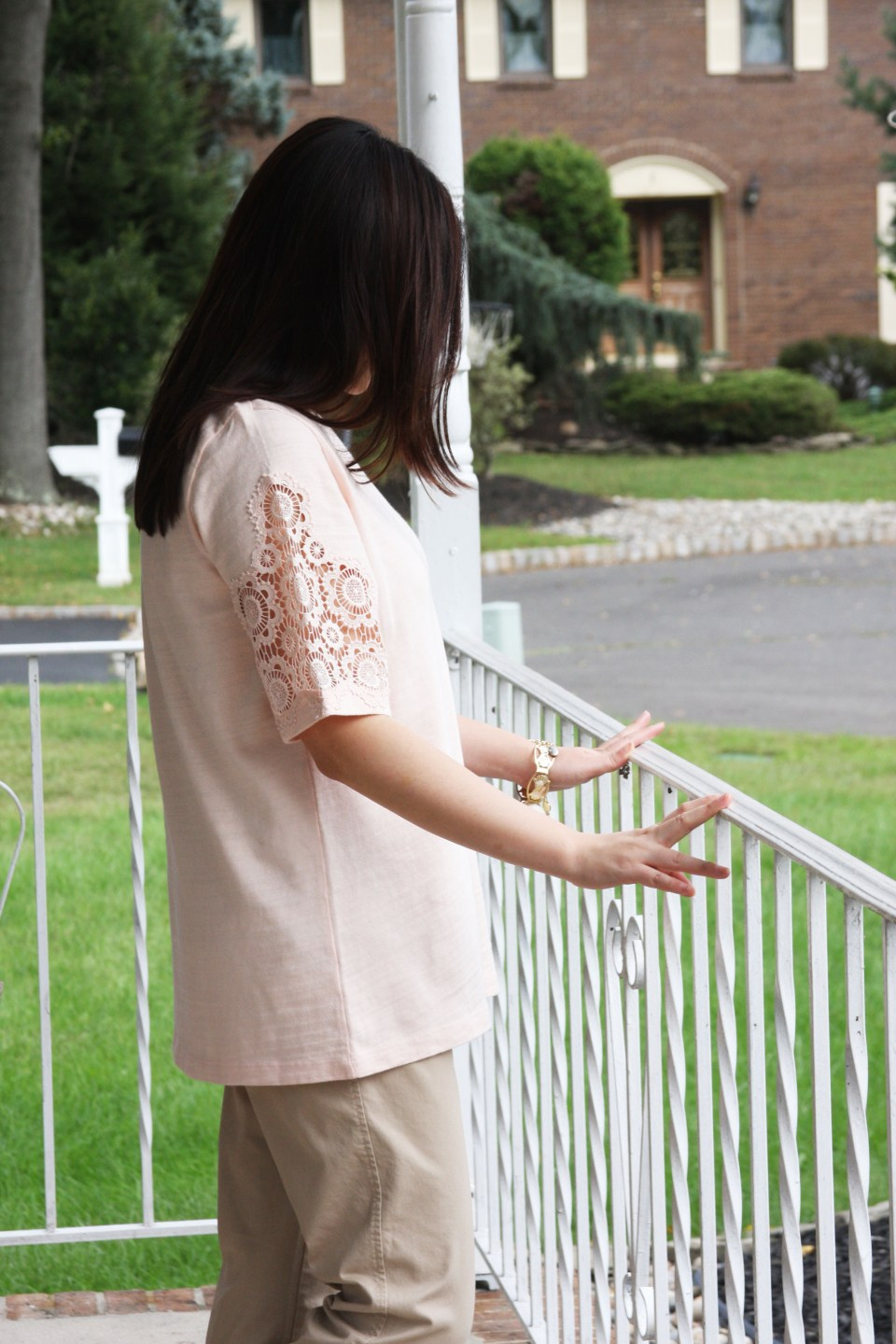 Eyelet Medallion Sleeve Top 5