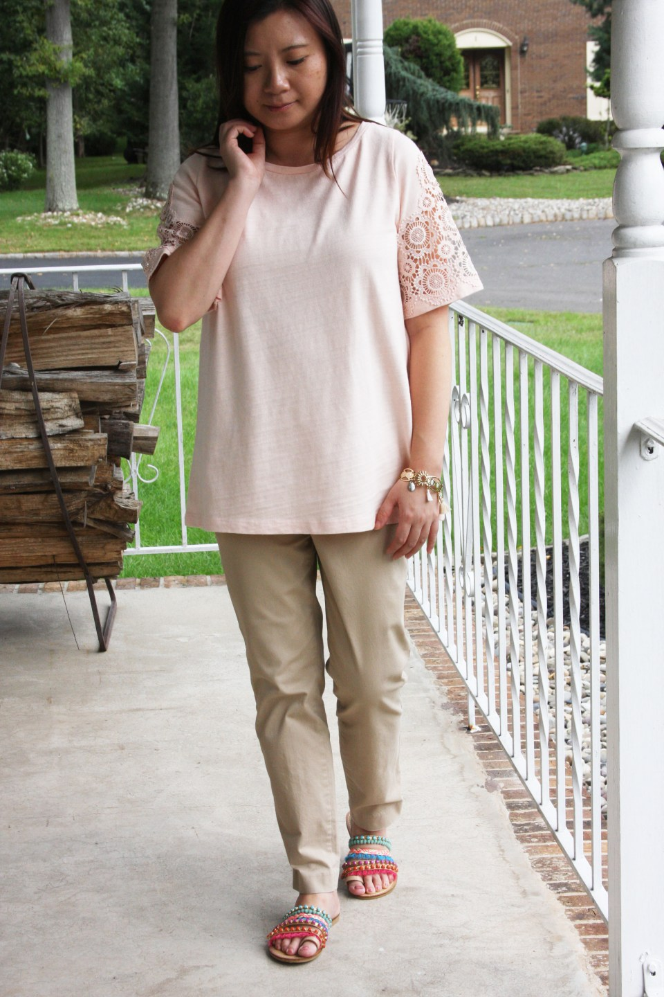 Eyelet Medallion Sleeve Top 7