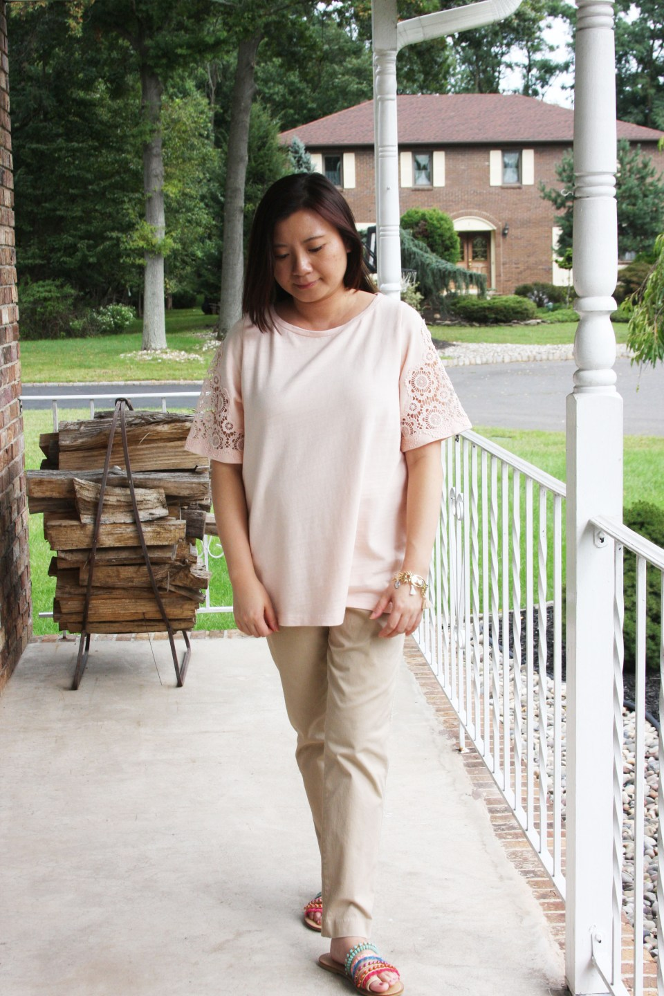 Eyelet Medallion Sleeve Top 8