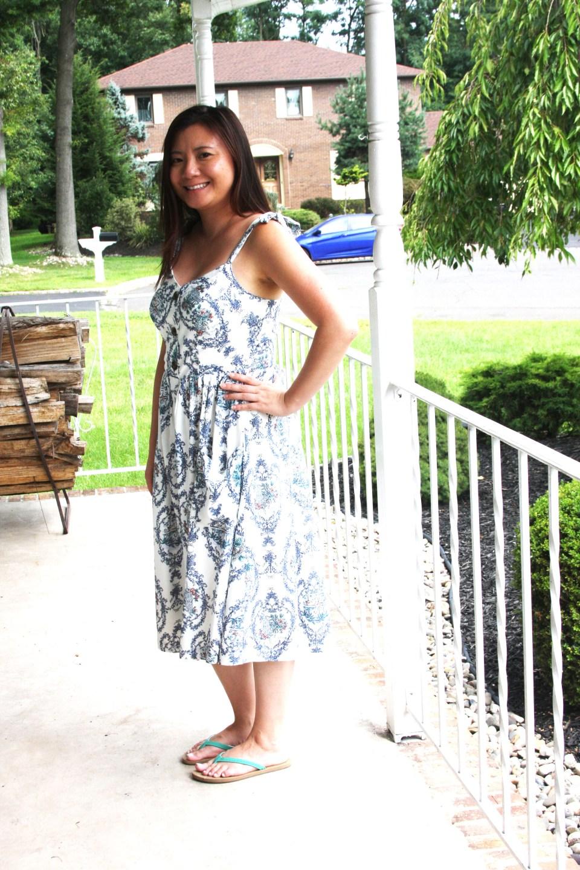 Floral Button Front Dress 1