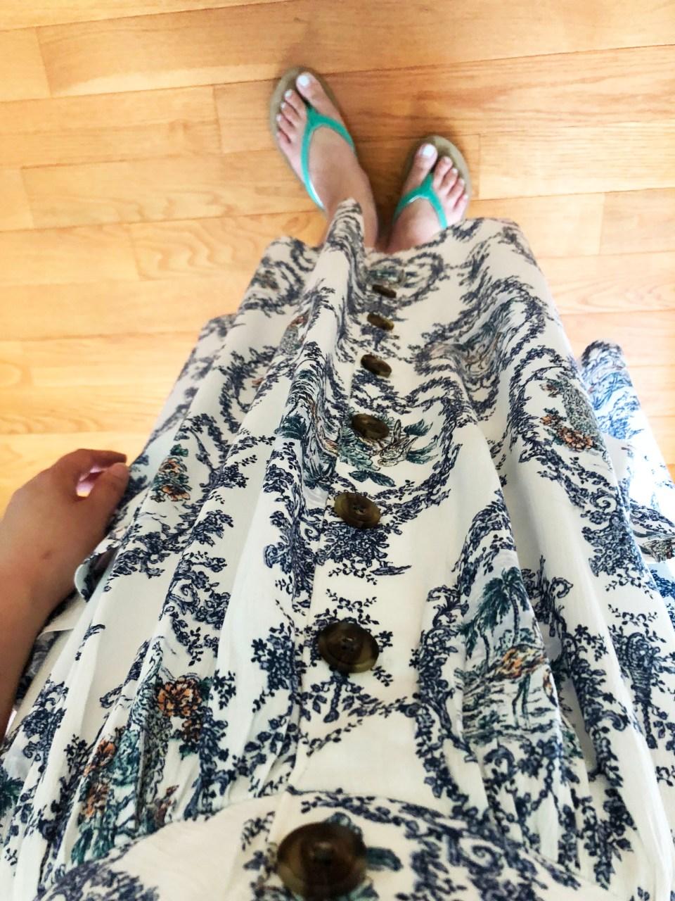 Floral Button Front Dress 10