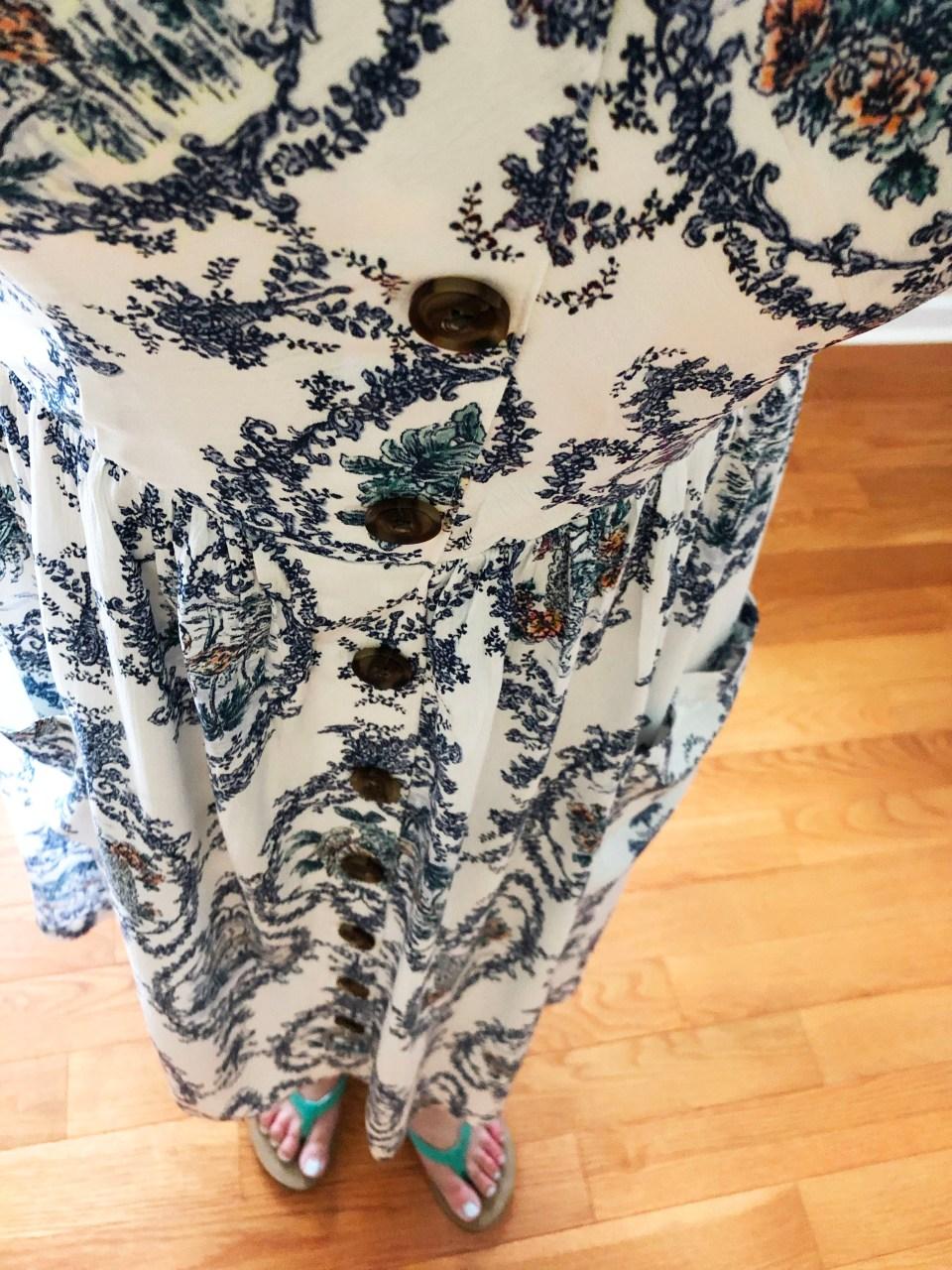 Floral Button Front Dress 11