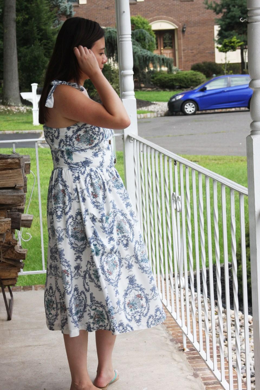 Floral Button Front Dress 4