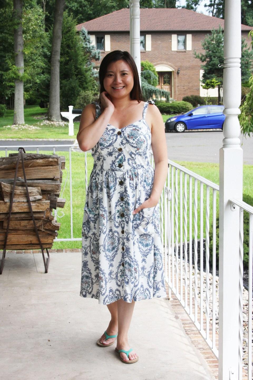 Floral Button Front Dress 8