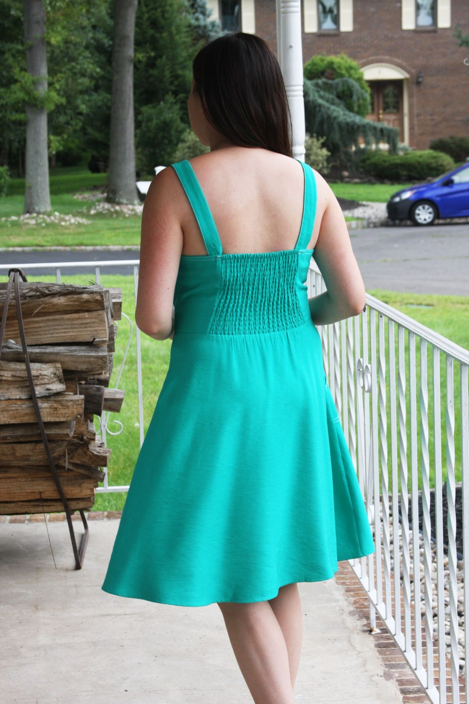 Green Front Tie Dress 4