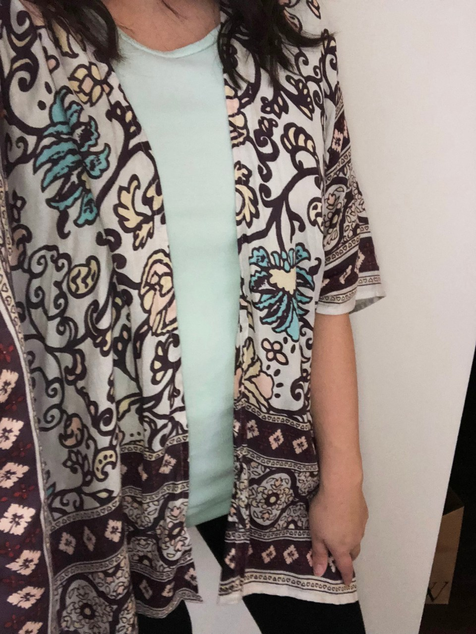 Paisley Tacked Ruana 9