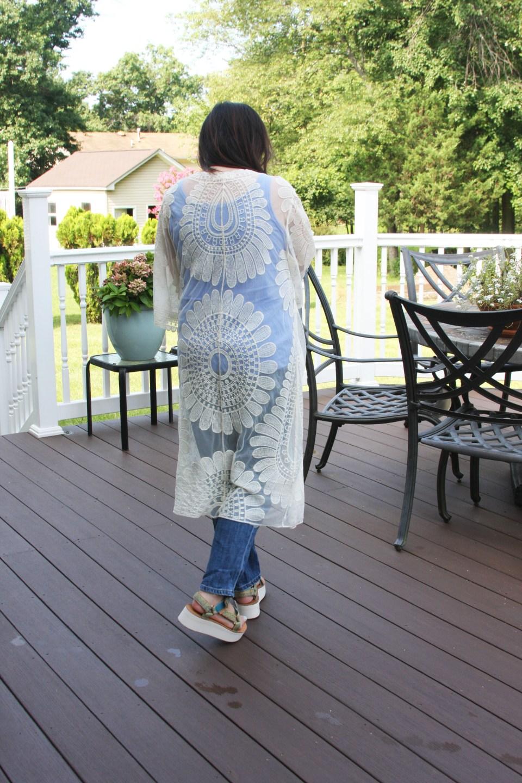 Sheer Detailed Kimono 3