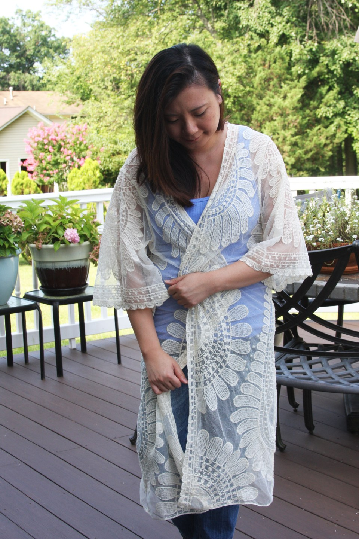 Sheer Detailed Kimono 9