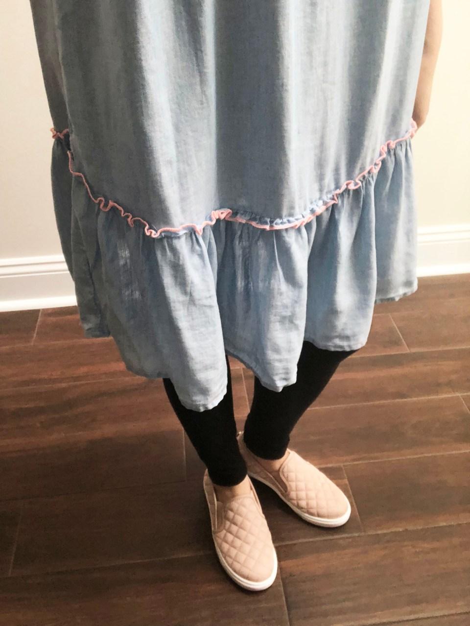Blue Drop Waist Dress 6