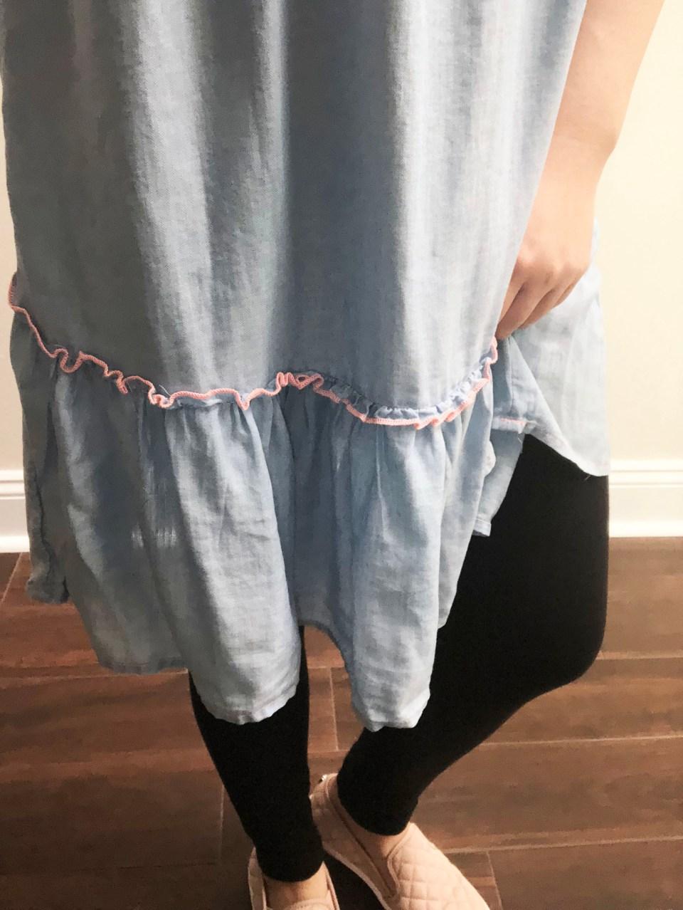 Blue Drop Waist Dress 7