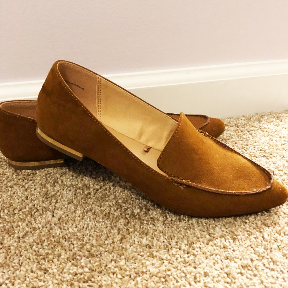 Faux Suede Pointy Toe Loafers