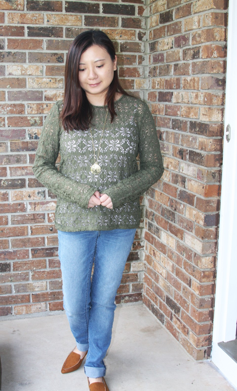 Olive Green Lace Top 6