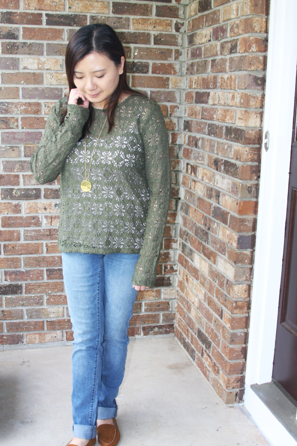 Olive Green Lace Top 7