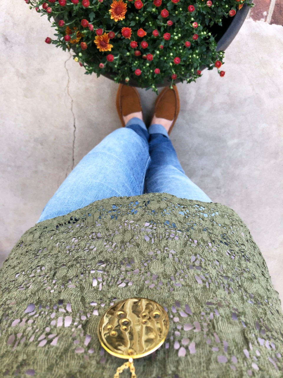 Olive Green Lace Top 8