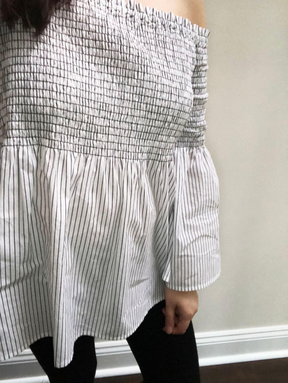 Striped Smocked OTS 12