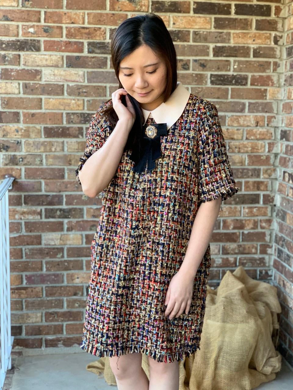 Multicolor Embellished Shift Dress 13