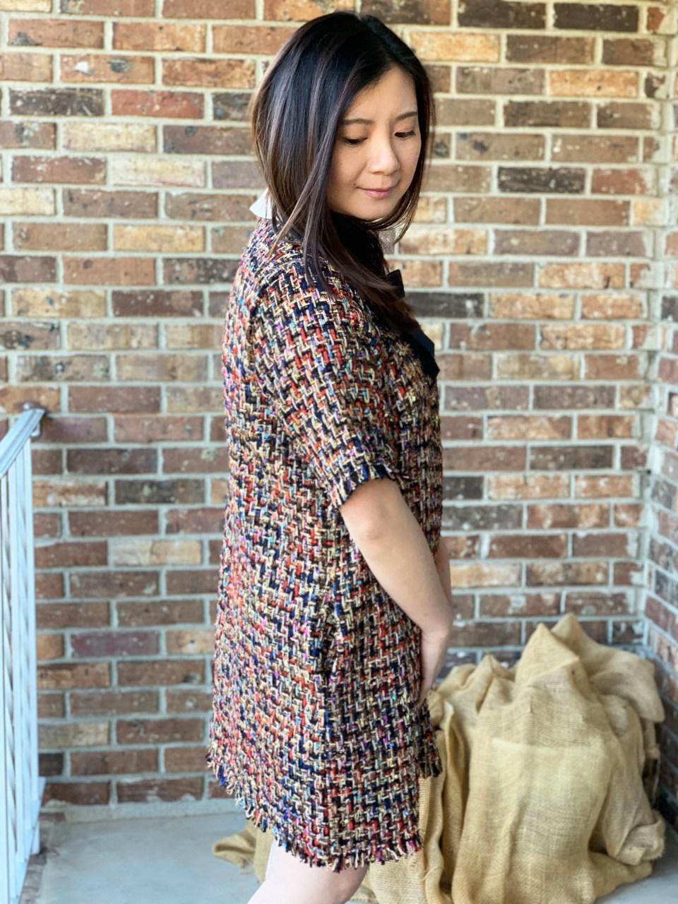 Multicolor Embellished Shift Dress 15
