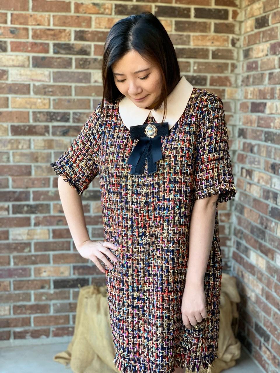 Multicolor Embellished Shift Dress 17