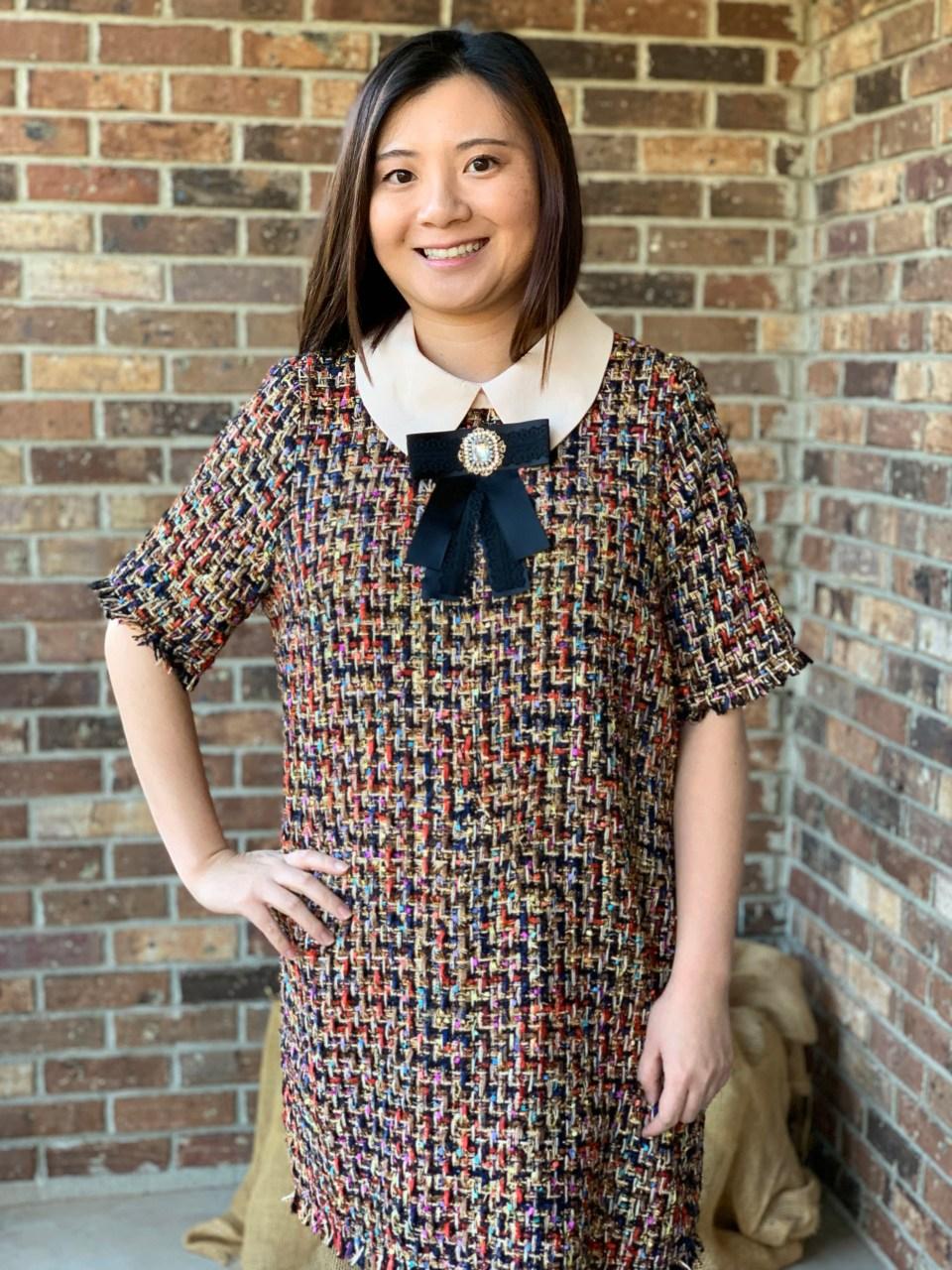 Multicolor Embellished Shift Dress 18