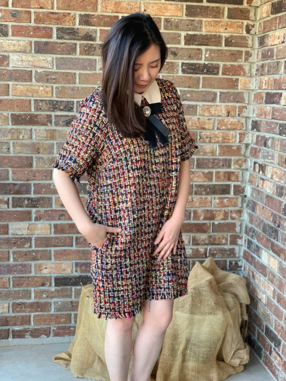 Multicolor Embellished Shift Dress 3
