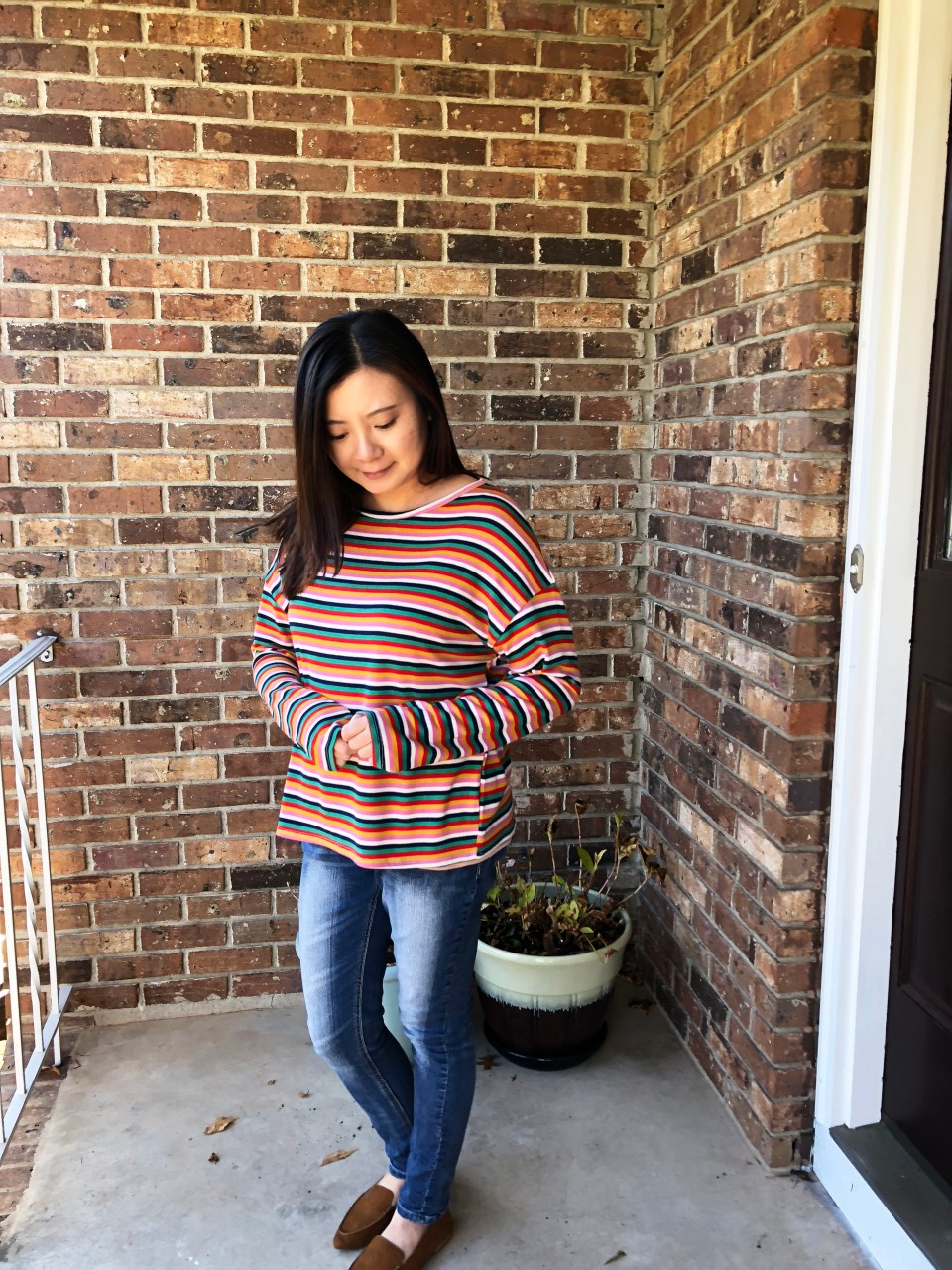 Multicolor Oversized Striped Top 10