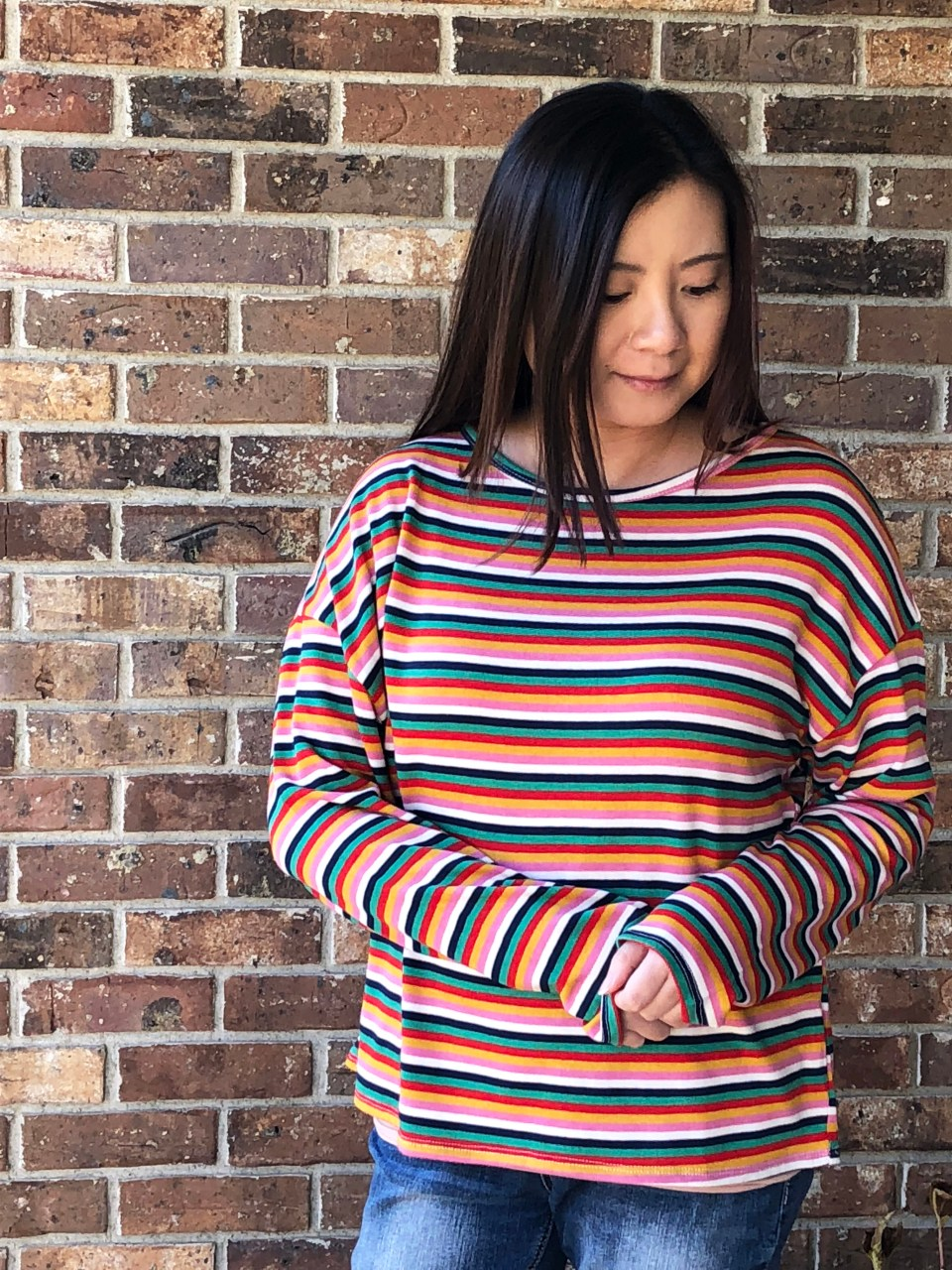 Multicolor Oversized Striped Top 5