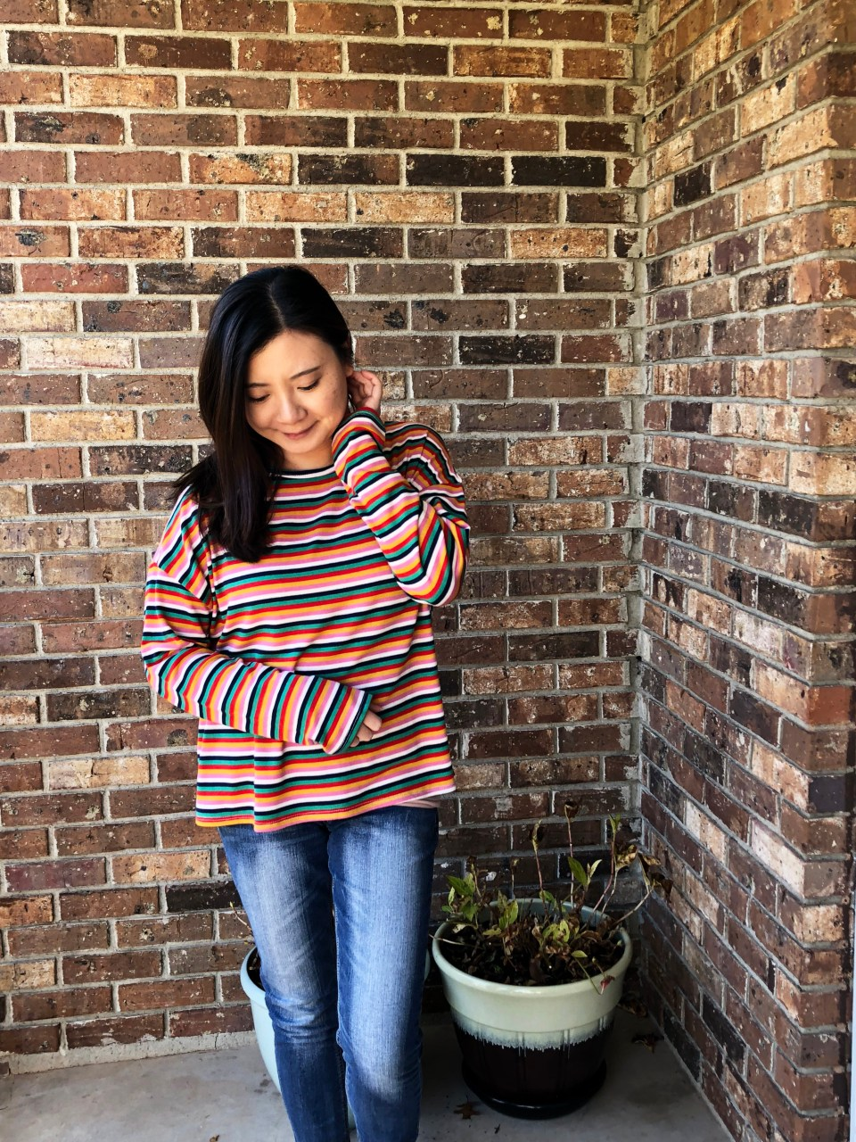 Multicolor Oversized Striped Top 9