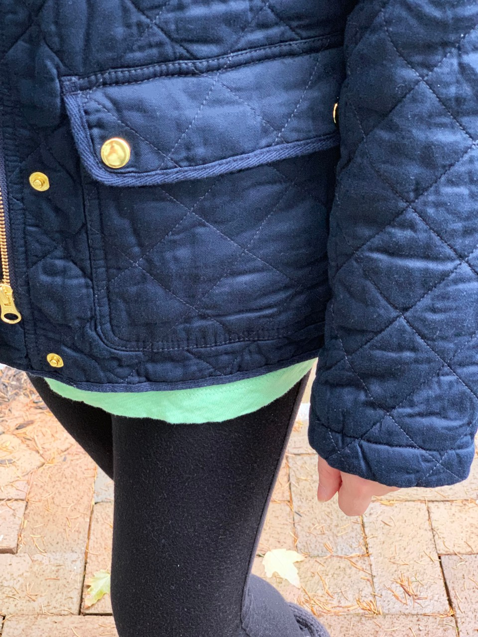 Navy Blue Quilted Jacket 11