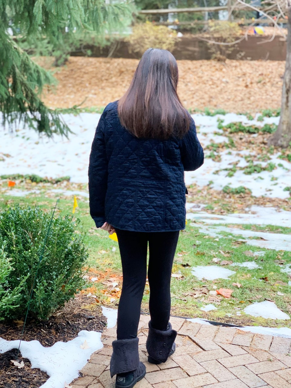 Navy Blue Quilted Jacket 3