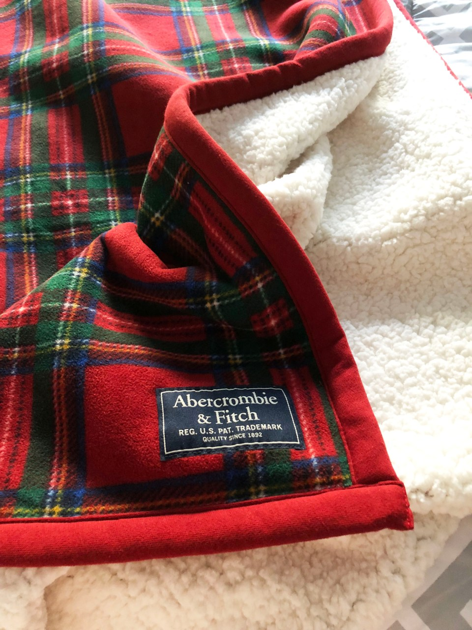 Plaid Sherpa Blanket 2
