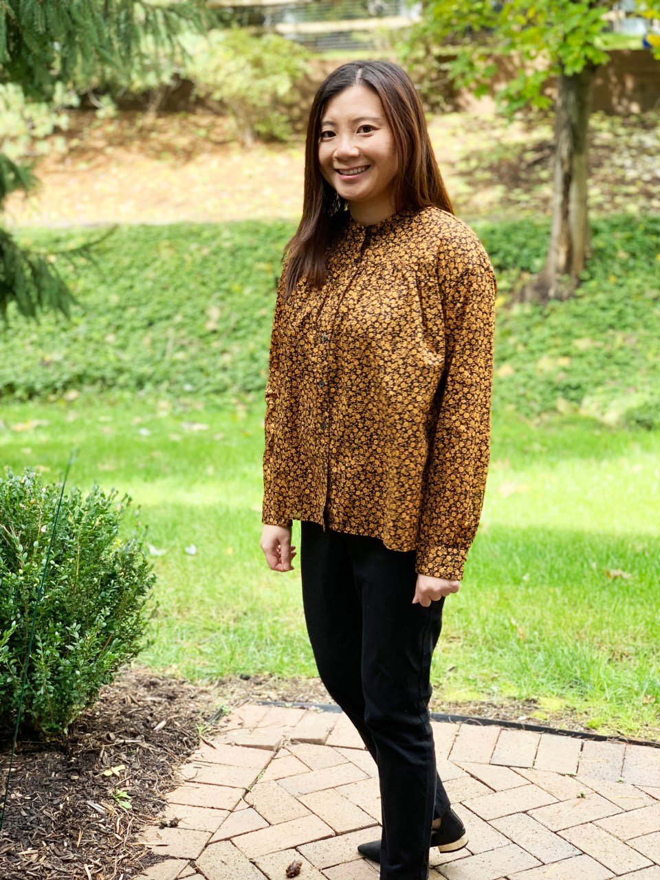 Yellow & Black Floral Top 8