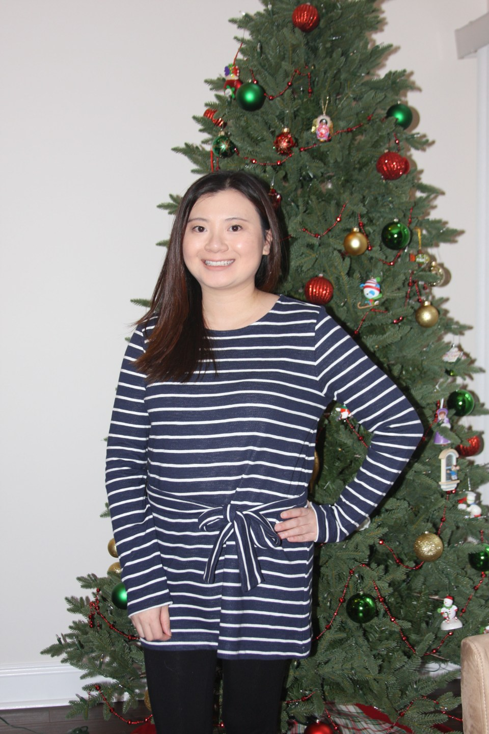 Blue & White Striped Belted Top 9