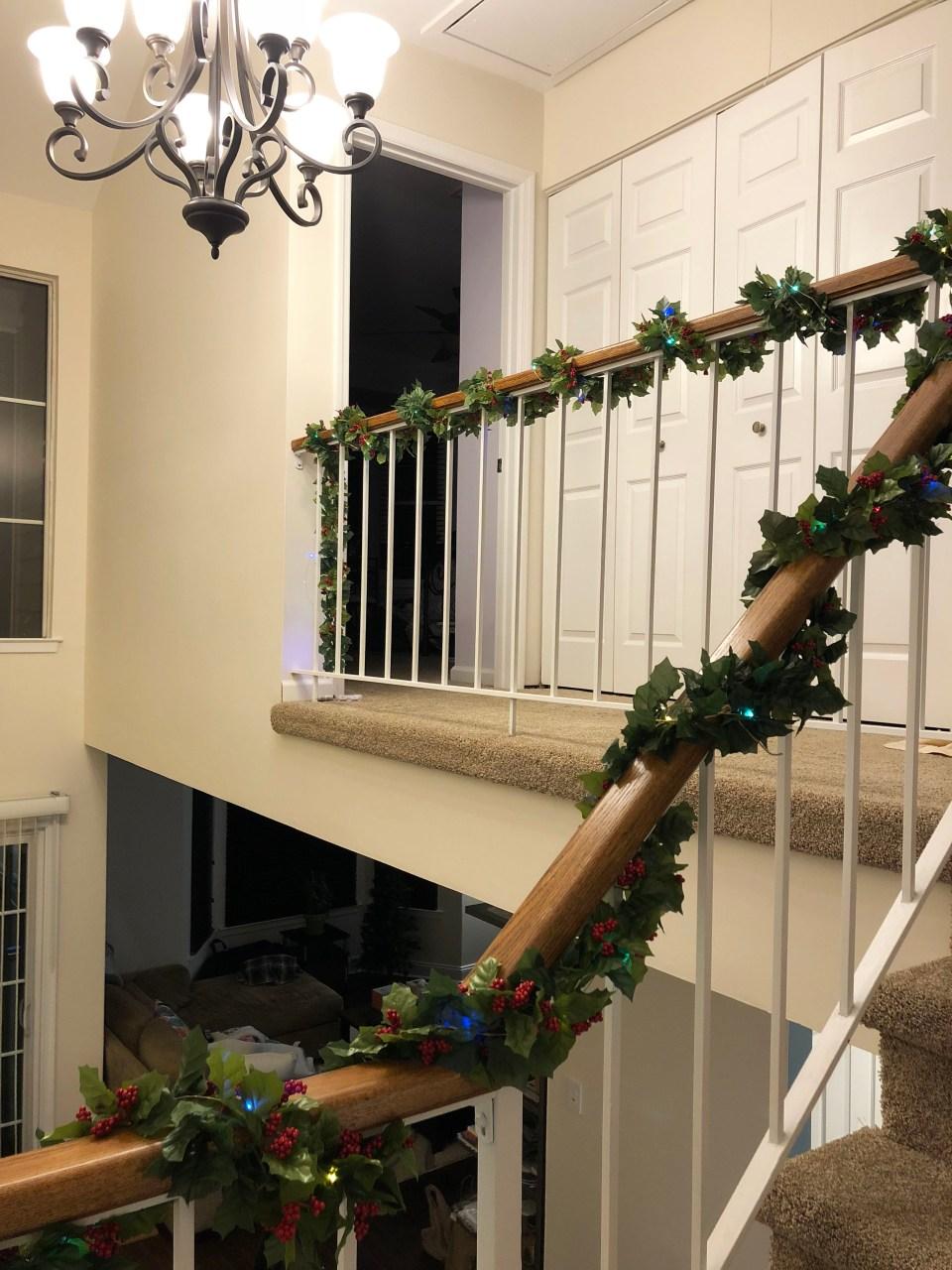 Christmas Garland + Lights 1