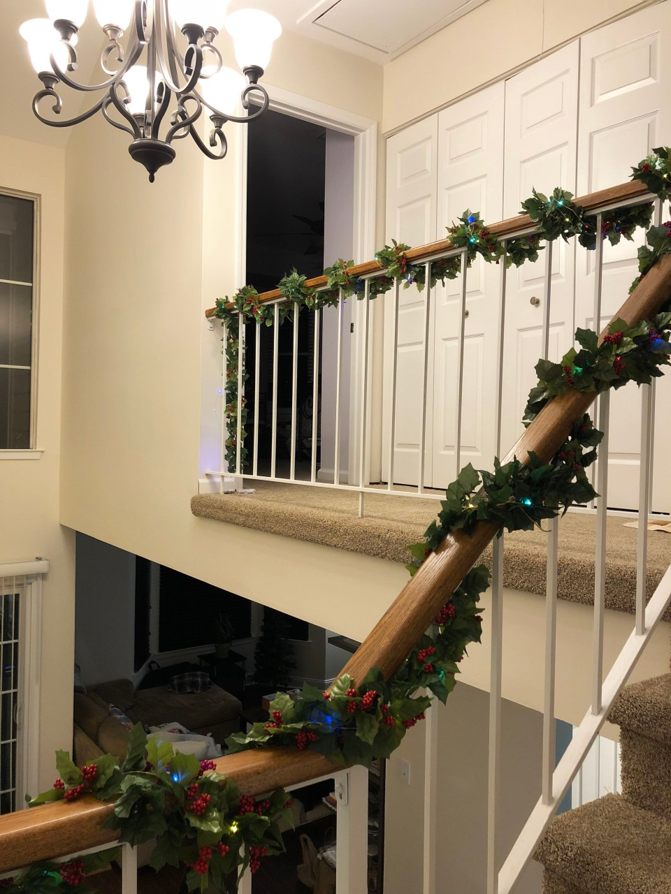 Christmas Garland + Lights 1