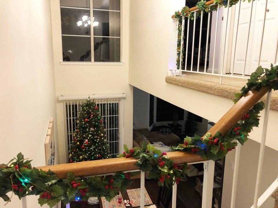 Christmas Garland + Lights 2