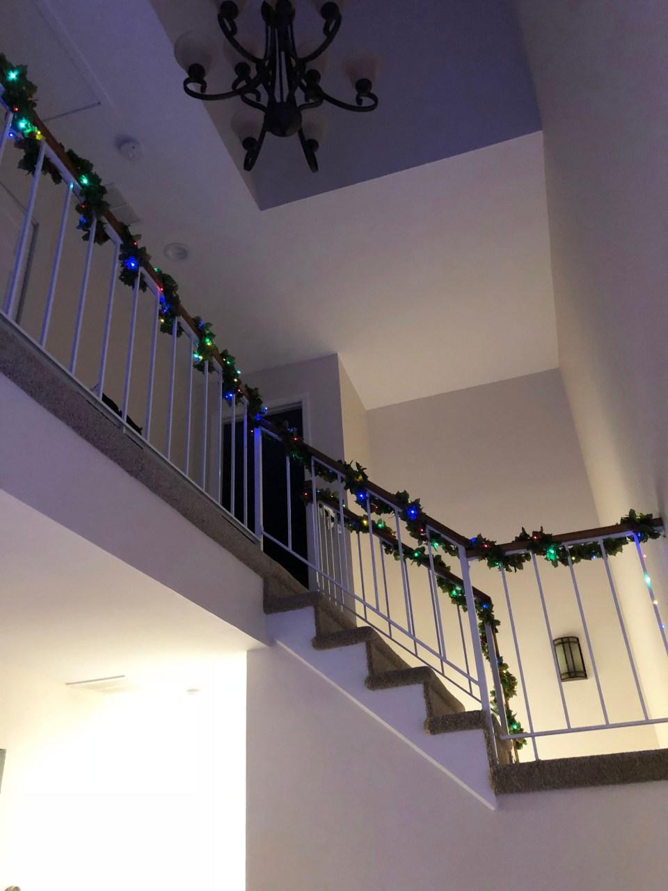 Christmas Garland + Lights 9