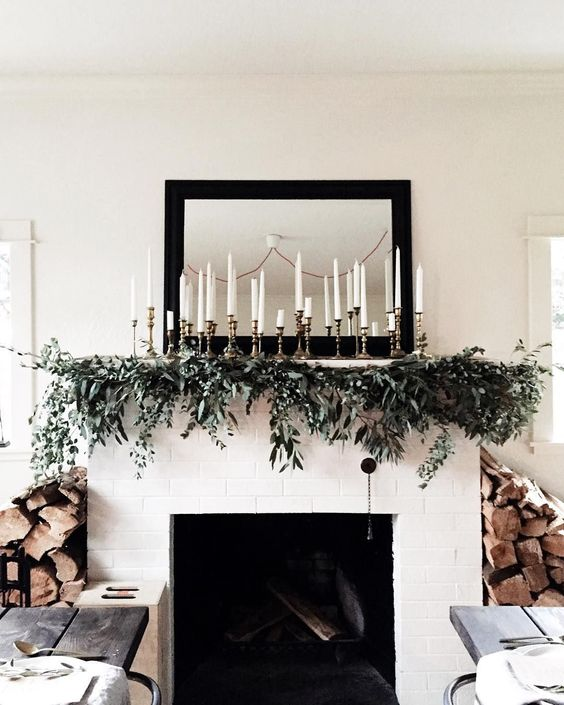 Christmas Mantle - Candles