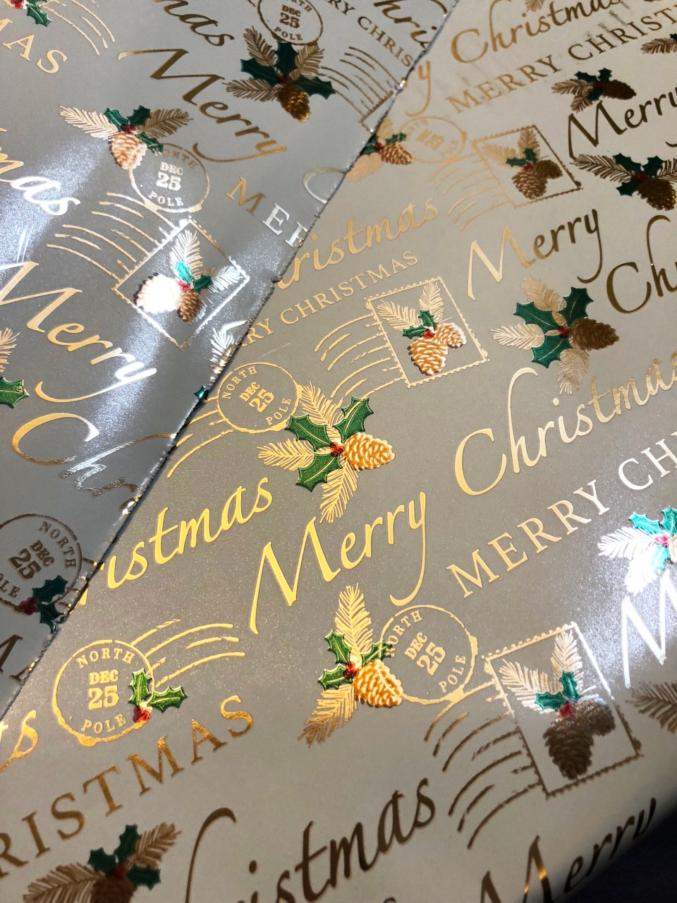 Christmas postage wrapping paper 1