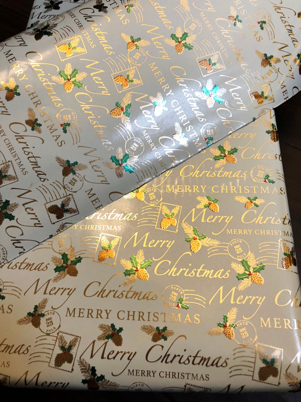 Christmas postage wrapping paper