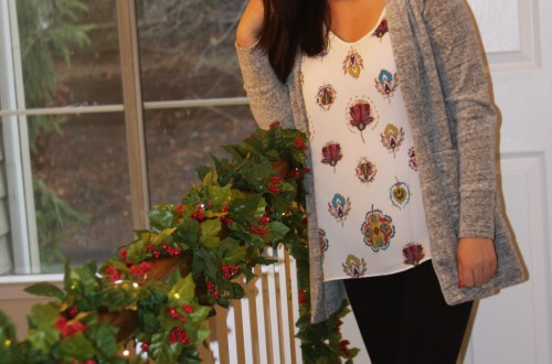Floral Medallion Print Top