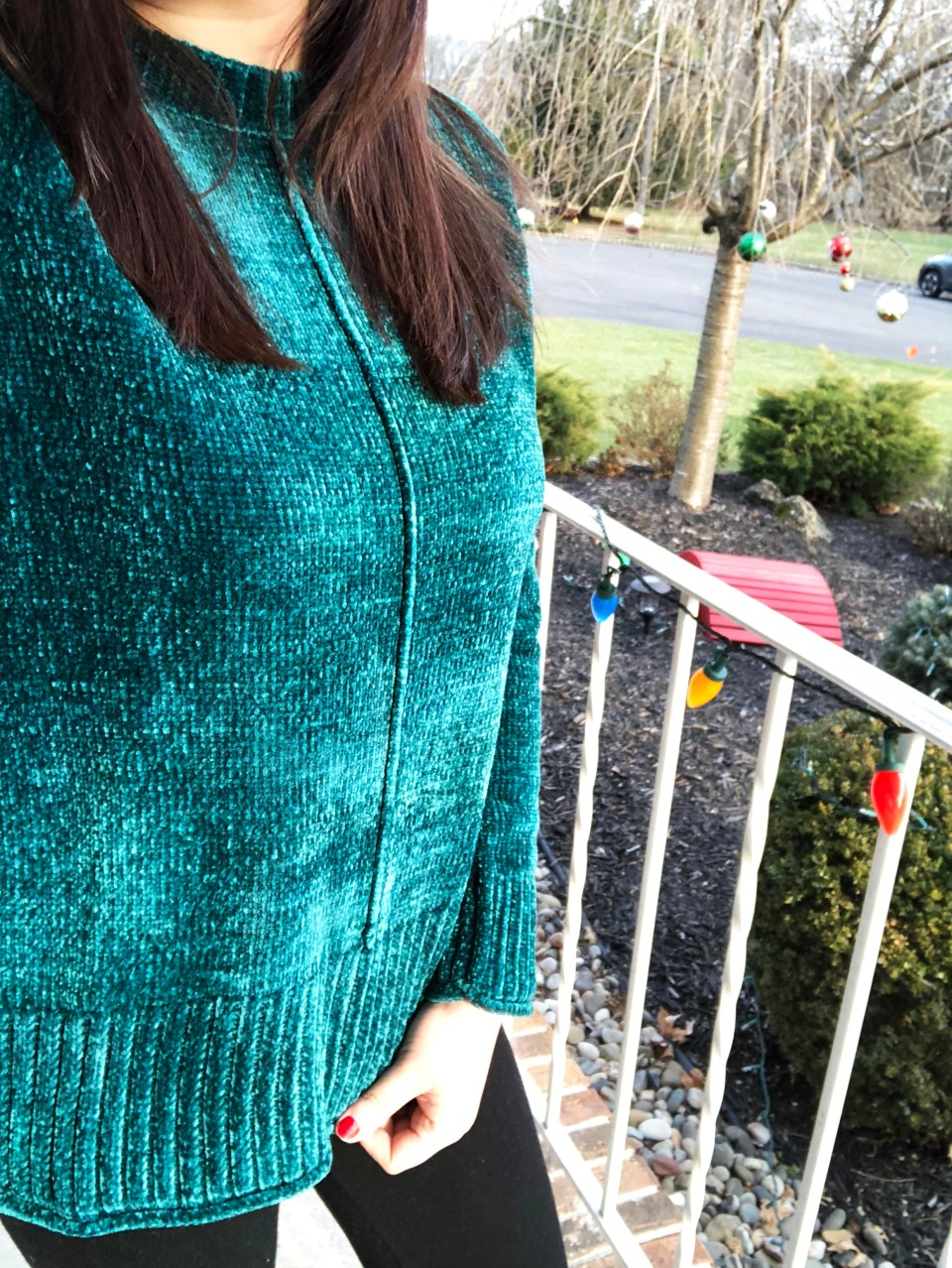 Green Chenille Sweater 11
