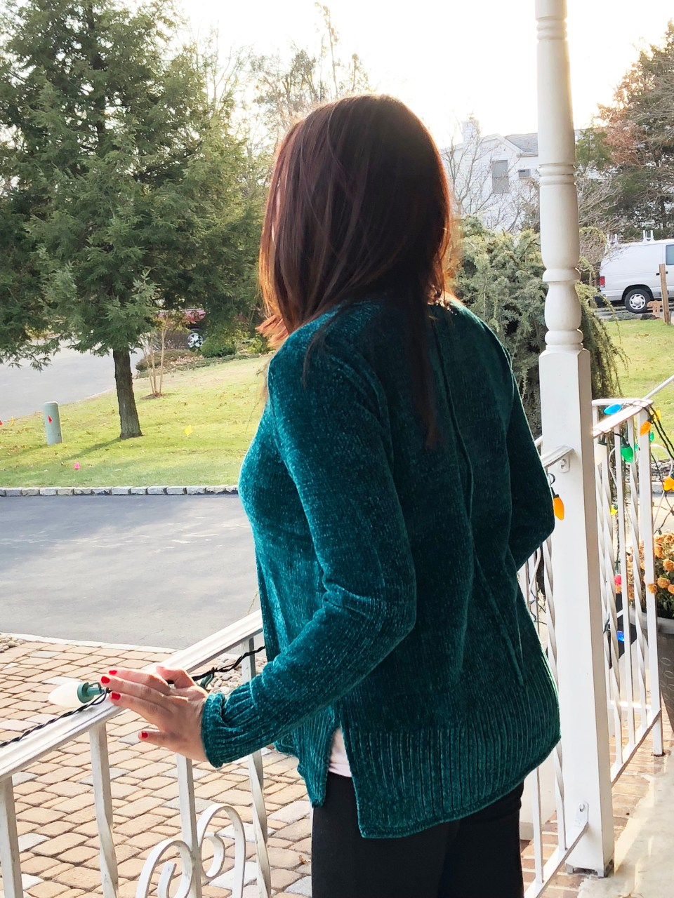 Green Chenille Sweater 3