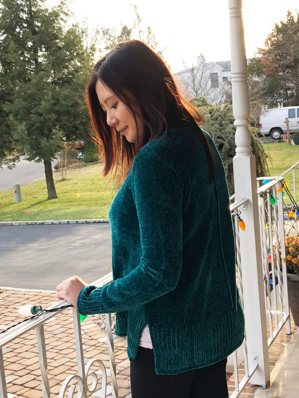 Green Chenille Sweater 6